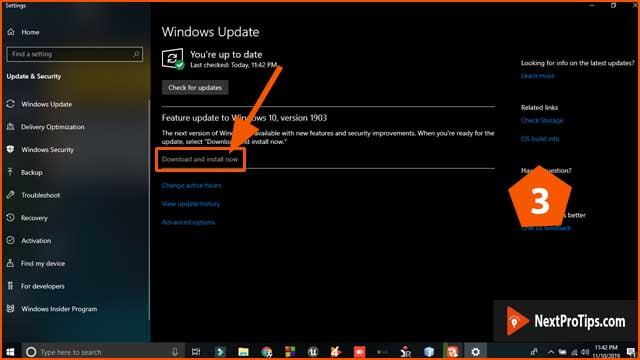 How to update windows 10 step 3