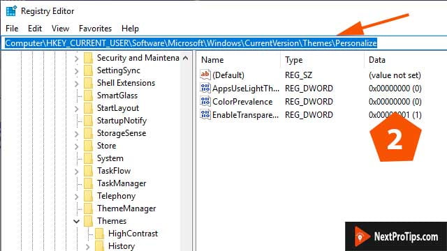 Modify registry manually step 2