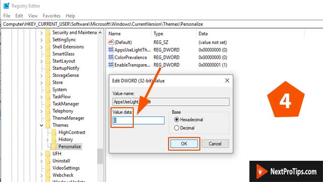 Modify registry manually step 4