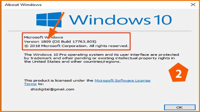 how to check windows version step 2