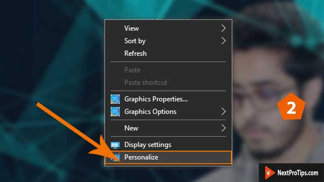 how to create slideshow background on windows 10 step 2