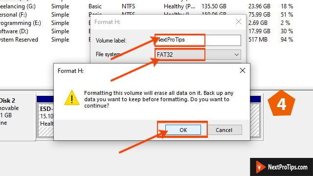 format bootable USB to normal step 4