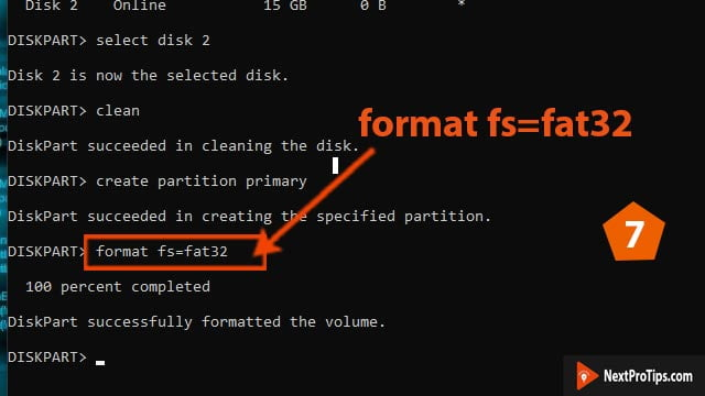 format bootable USB to normal step 7