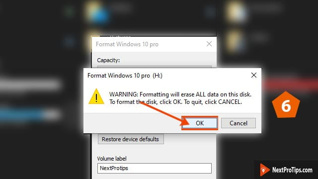 format bootable usb to normal step 6