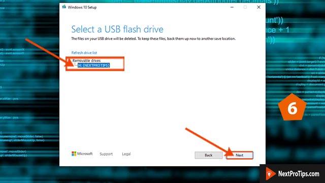 How to make a bootable USB for windows 10 using media creation tool step 6