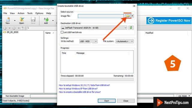 How to make a bootable usb for windows 10 power iso step 5