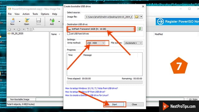 How to make a bootable usb for windows 10 power iso step 7