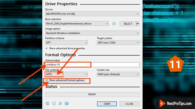 Create bootable USB from ISO using Rufus step 11