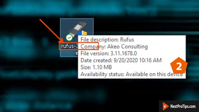 create bootable usb from iso using rufus step 2