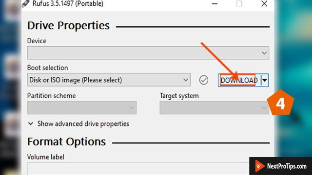 create bootable USB from iso using Rufus step 4