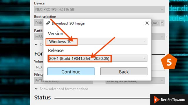 create bootable USB from ISO using Rufus step 5