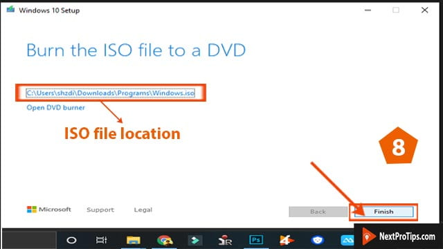 download windows 10 ISO step 8