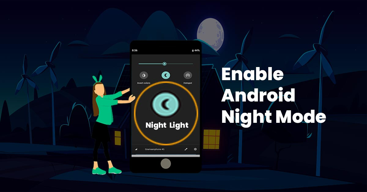 How to enable night mode on android
